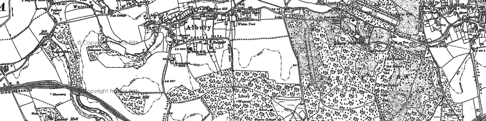 Old map of Albury Park in 1895