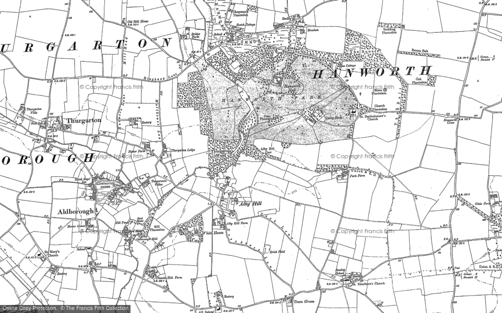 Old Map of Alby Hill, 1885 - 1905 in 1885