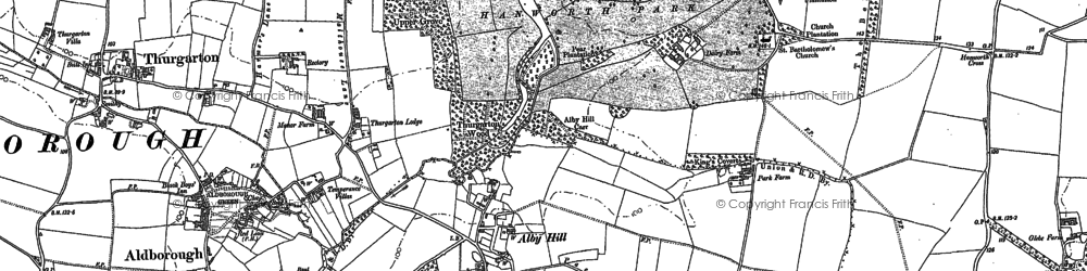 Old map of Alby Hill in 1885