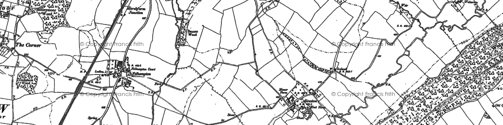 Old map of Alcaston in 1883