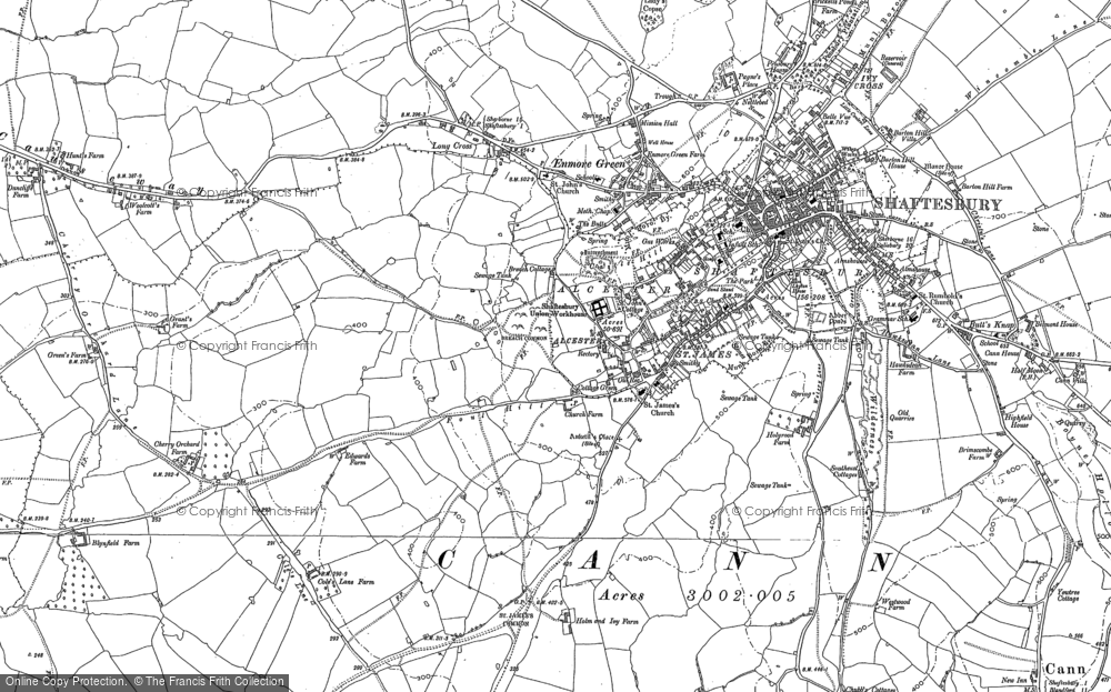Old Map of Alcester, 1900 - 1901 in 1900