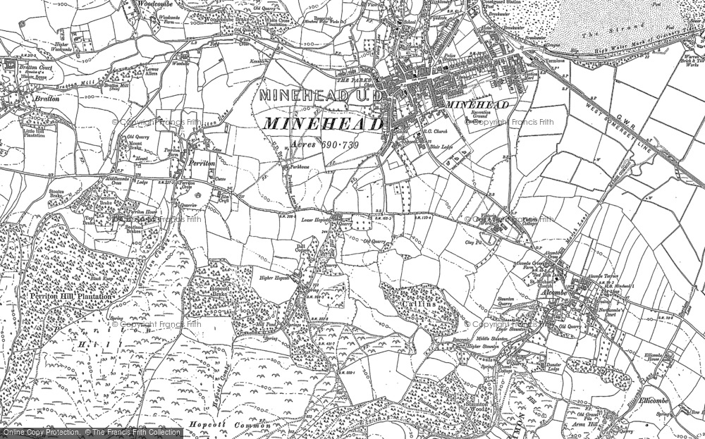 Old Map of Alcombe, 1902 in 1902