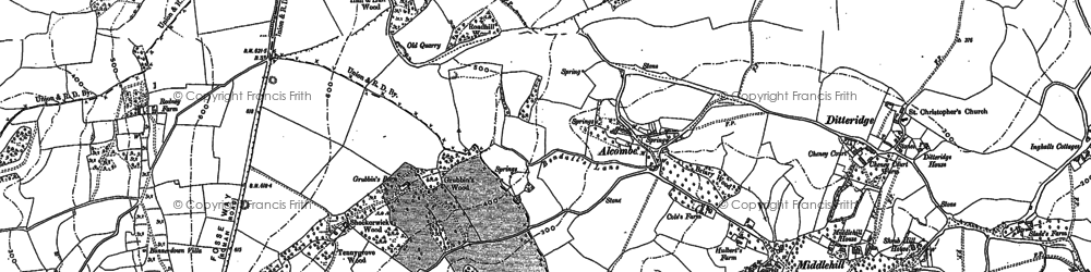 Old map of Banner Down in 1902