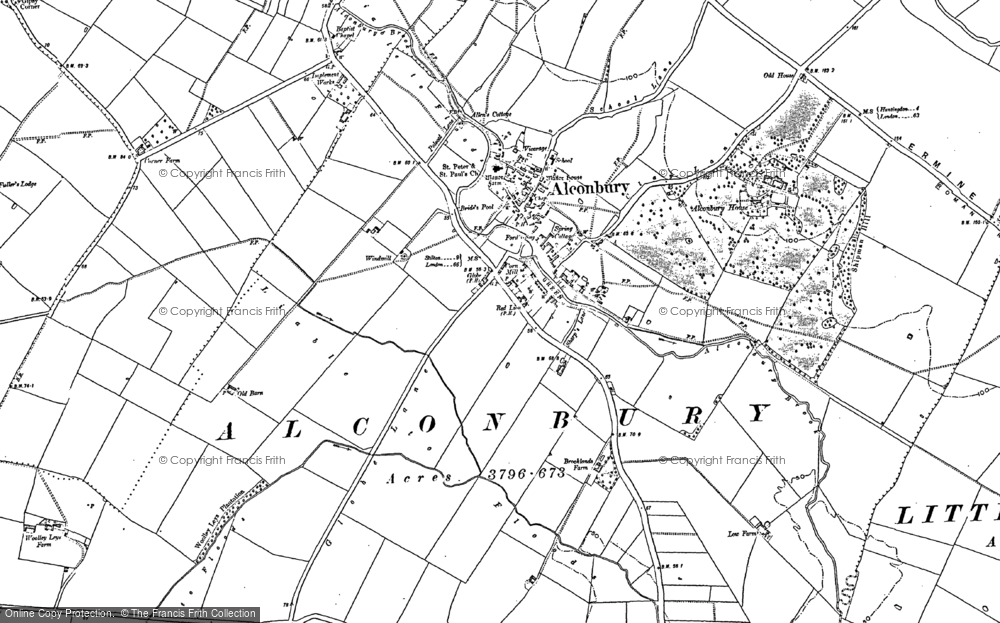 Map of Alconbury, 1887