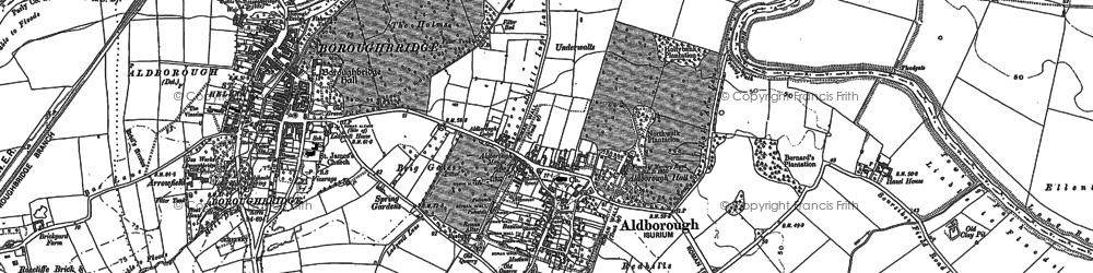 Old map of Aldborough Grange in 1892