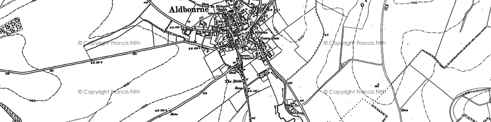 Old map of Aldbourne in 1899