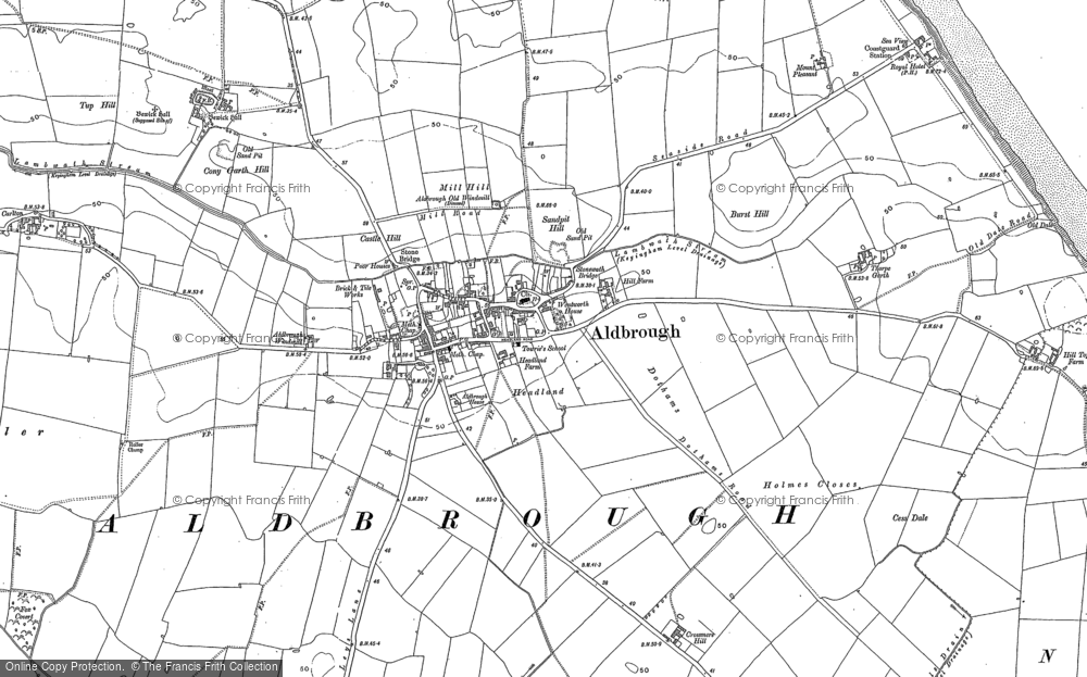 Old Map of Aldbrough, 1889 - 1908 in 1889