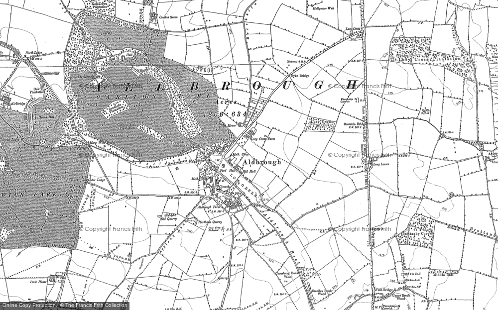 Old Map of Aldbrough St John, 1892 - 1912 in 1892