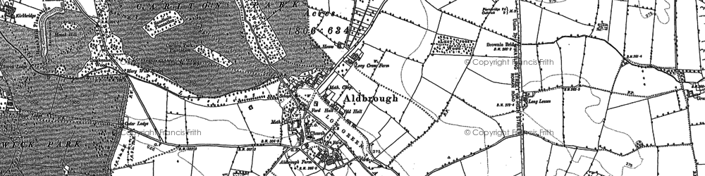 Old map of Aldbrough St John in 1892
