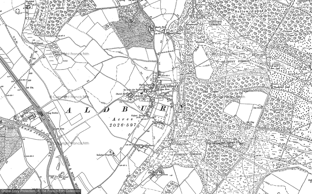 Map of Aldbury, 1897 - 1923