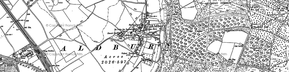 Old map of Aldbury Common in 1897