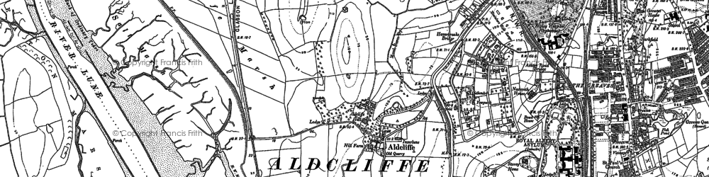 Old map of Aldcliffe in 1910