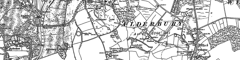 Old map of Alderbury Ho in 1900