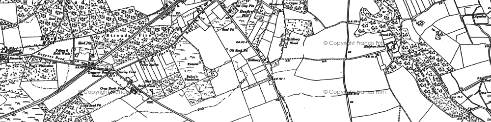 Old map of Alderholt in 1907