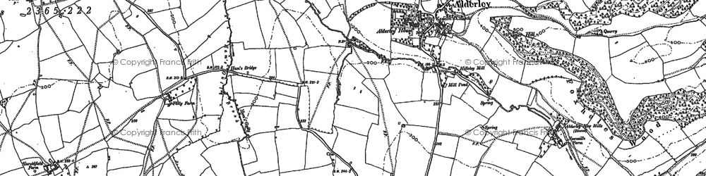 Old map of Alderley in 1881