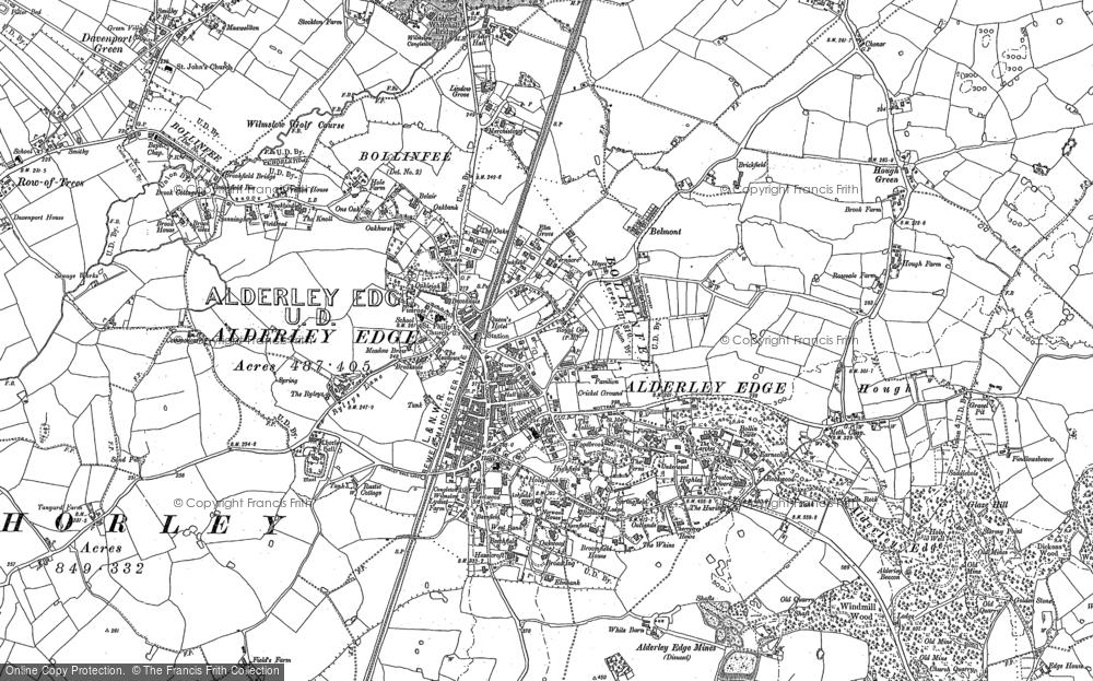 Old Map of Alderley Edge, 1897 in 1897