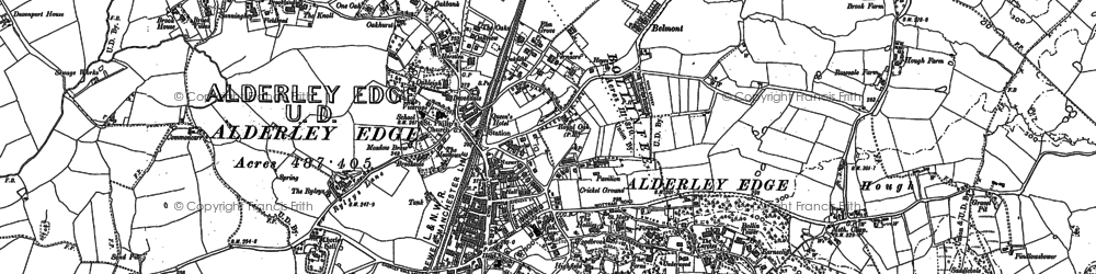 Old map of Alderley Edge in 1897