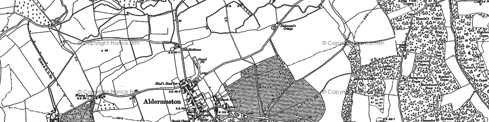 Old map of Aldermaston in 1909