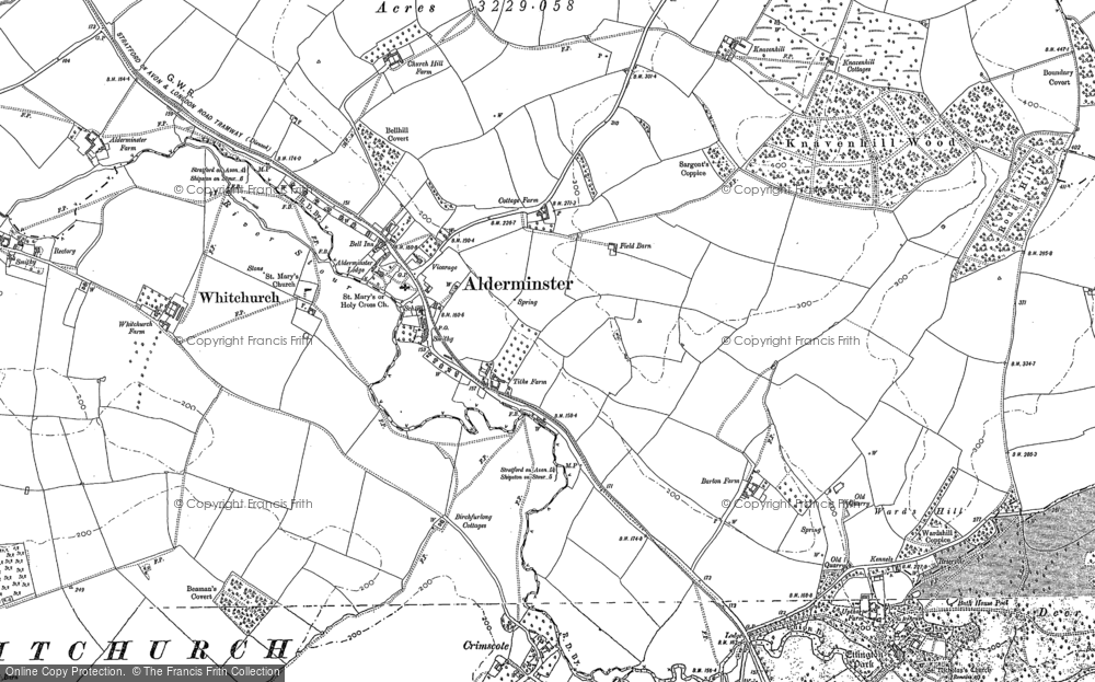 Old Map of Alderminster, 1900 in 1900