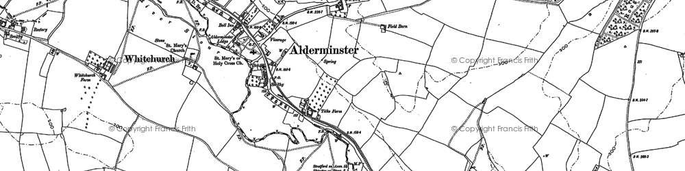 Old map of Alderminster in 1900