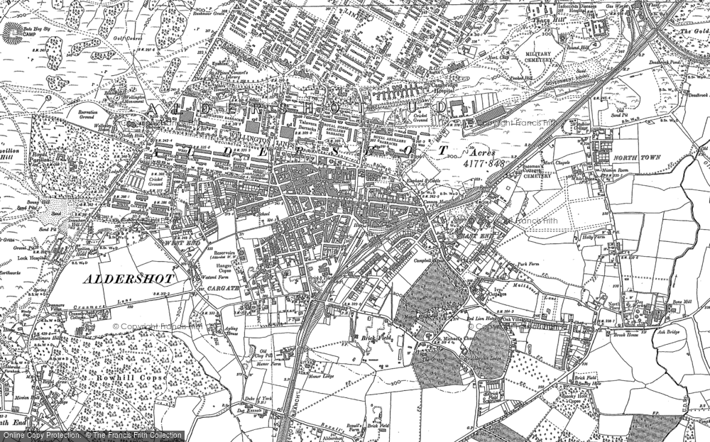Map of Aldershot, 1913