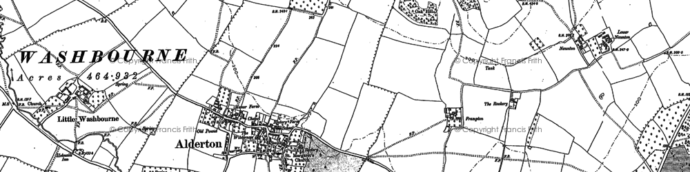 Old map of Alderton in 1883