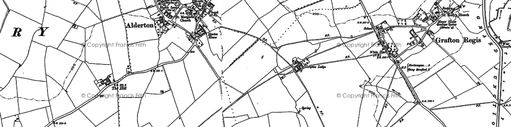 Old map of Alderton in 1902