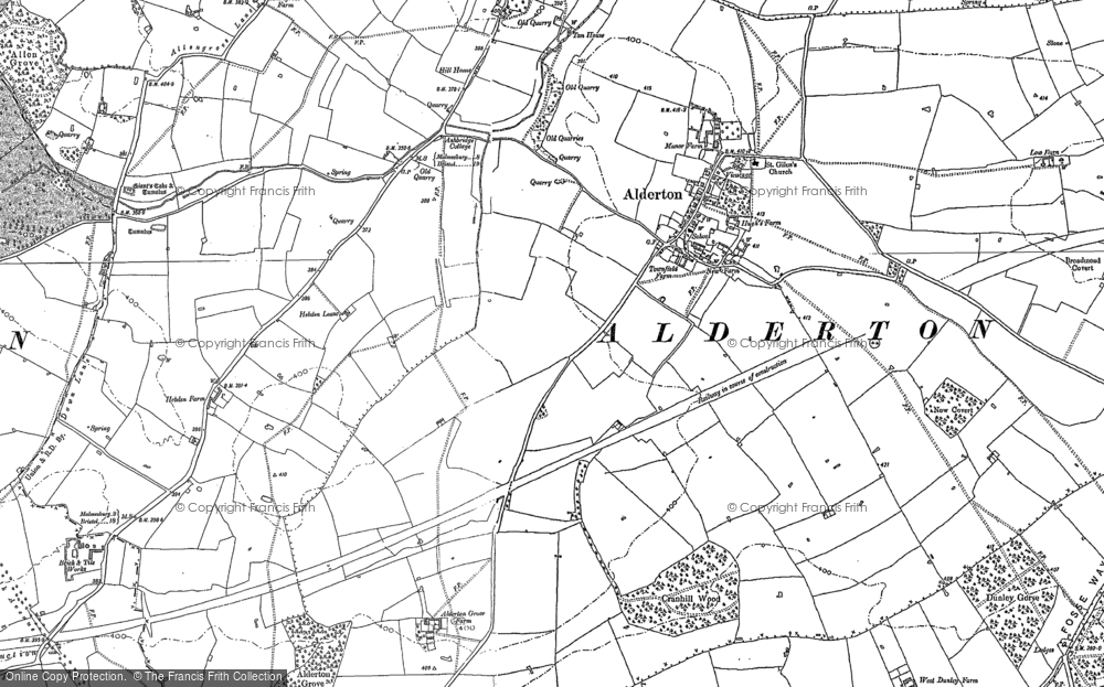 Old Map of Alderton, 1919 in 1919