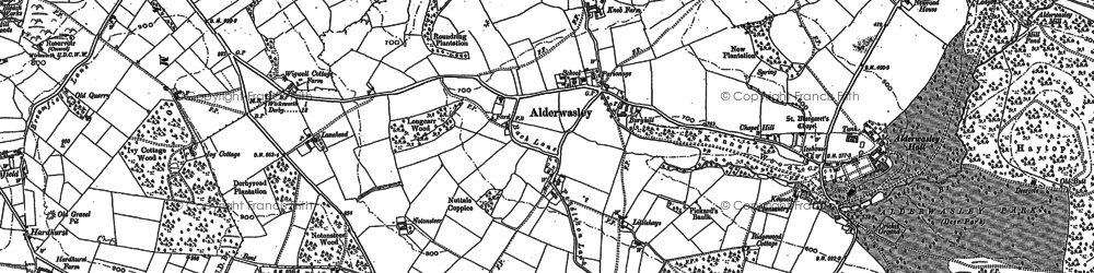 Old map of Alderwasley Hall (School) in 1879