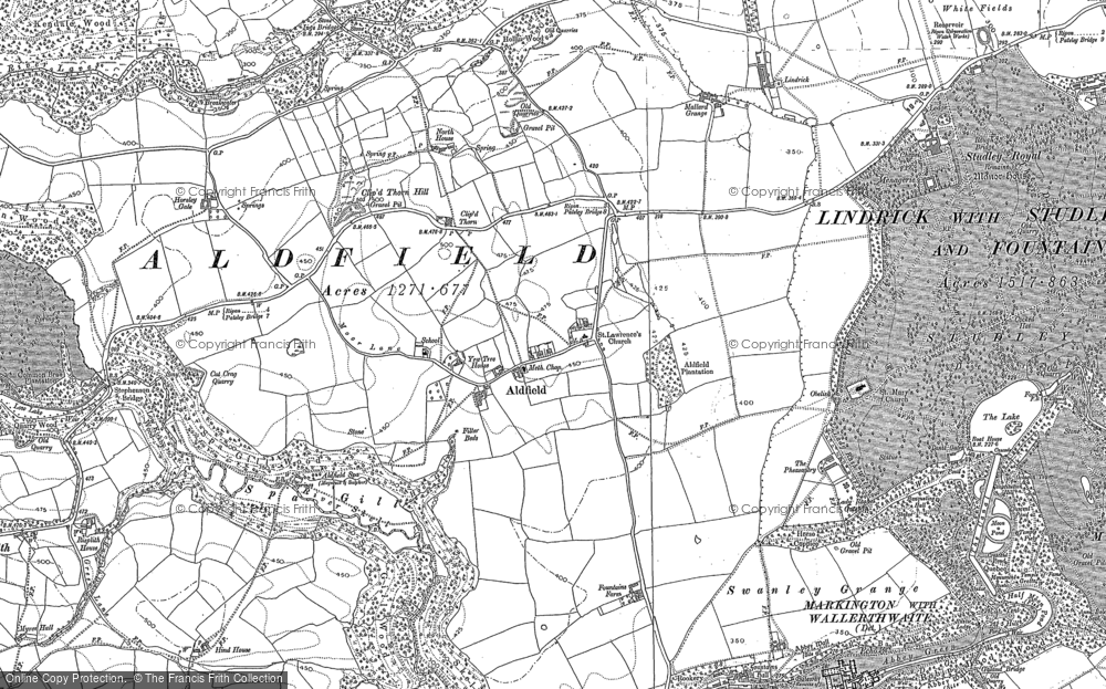 Map of Aldfield, 1890 - 1908