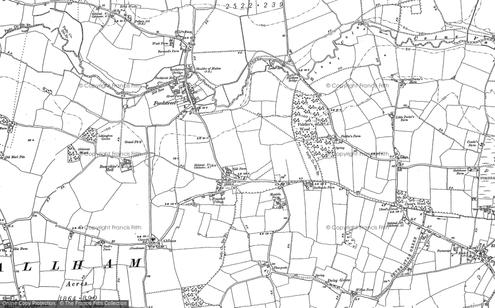 Old Map of Aldham, 1896 in 1896