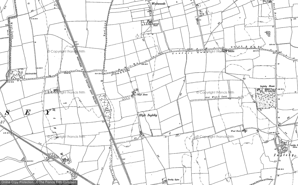 Old Map of Aldhow Grange, 1885 in 1885