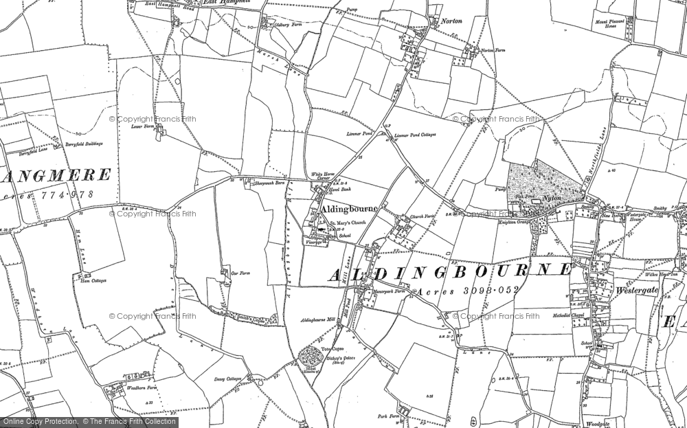 Old Map of Aldingbourne, 1847 - 1896 in 1847