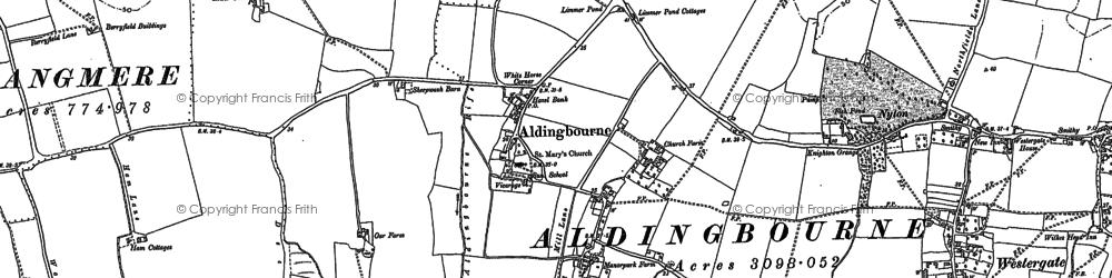 Old map of Aldingbourne in 1847