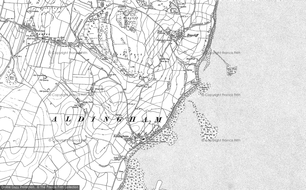 Old Map of Aldingham, 1910 - 1911 in 1910