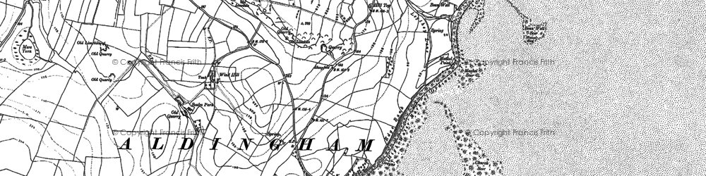 Old map of Aldingham in 1910