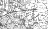 Old Map of Aldington, 1883 - 1885