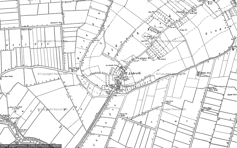 Old Map of Aldreth, 1887 in 1887