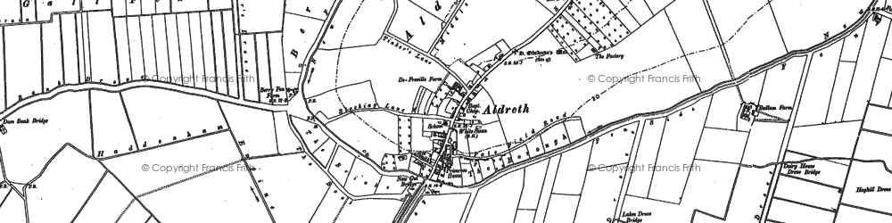 Old map of Aldreth in 1887