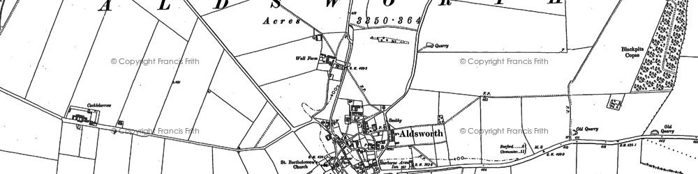Old map of Aldsworth in 1882
