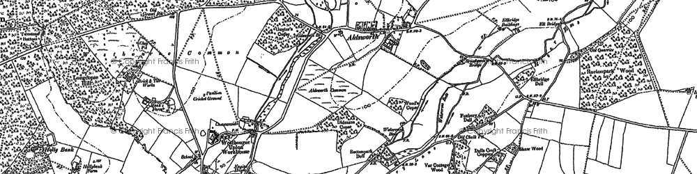Old map of Aldsworth in 1910