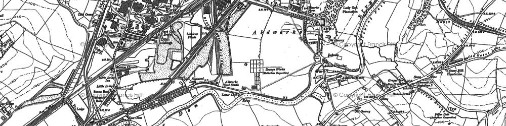 Old map of Aldwarke in 1890