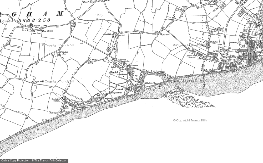 Old Map of Aldwick, 1909 - 1910 in 1909
