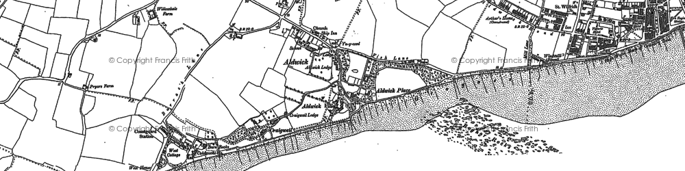Old map of Aldwick in 1909