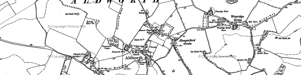 Old map of Aldworth in 1898