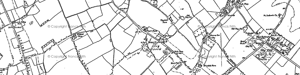 Old map of Aley Green in 1899