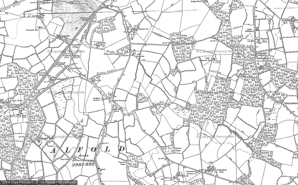 Old Map of Alfold Crossways, 1895 - 1913 in 1895