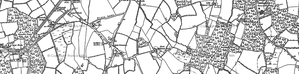 Old map of Alfold Crossways in 1895