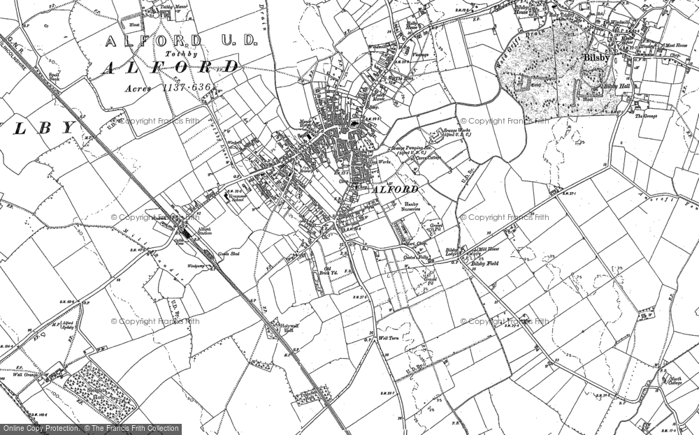 Old Map of Alford, 1887 in 1887