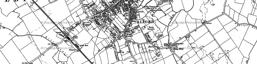 Old map of Alford in 1887